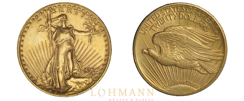 Saint Gaudens $ 20 Double Eagle 1923